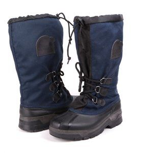 Vintage Sorel Kaufman Winter Boots Navy Black M7/W9
